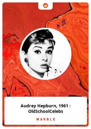 Audrey Hepburn, 1961 : OldSchoolCelebs