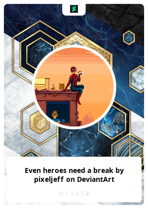 Even heroes need a break by pixeljeff on DeviantArt