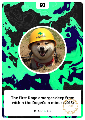 The first Doge emerges deep from within the DogeCoin mines (2013)