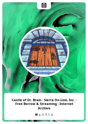 Castle of Dr. Brain : Sierra On-Line, Inc. : Free Borrow & Streaming : Internet Archive