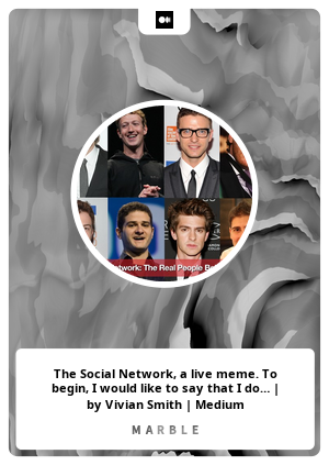 The Social Network, a live meme. To begin, I would like to say that I do…   by Vivian Smith   Medium