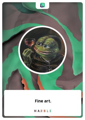 Fine art.