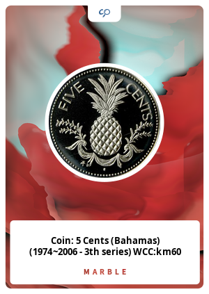 Coin: 5 Cents (Bahamas) (1974~2006 - 3th series) WCC:km60