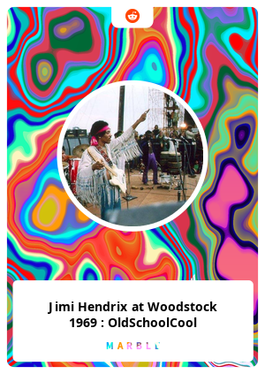 Jimi Hendrix at Woodstock 1969 : OldSchoolCool