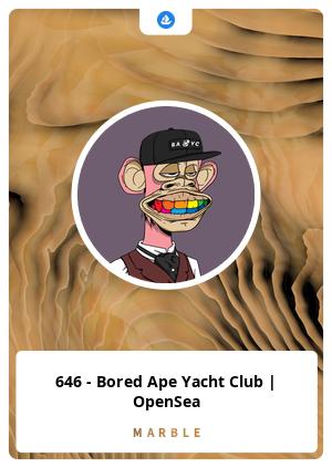 646 - Bored Ape Yacht Club   OpenSea