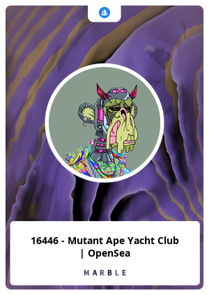16446 - Mutant Ape Yacht Club   OpenSea