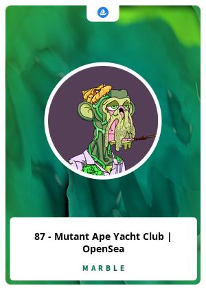 87 - Mutant Ape Yacht Club   OpenSea