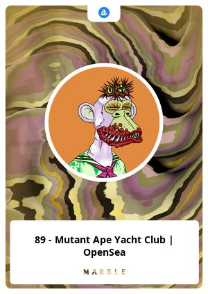 89 - Mutant Ape Yacht Club   OpenSea