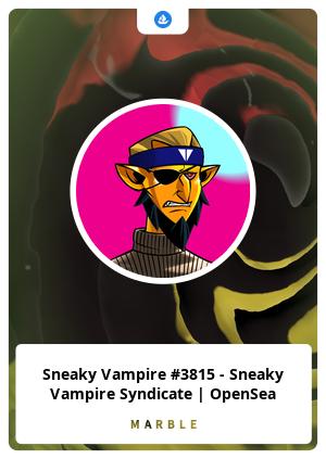 Sneaky Vampire #3815 - Sneaky Vampire Syndicate | OpenSea