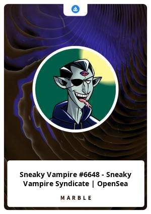 Sneaky Vampire #6648 - Sneaky Vampire Syndicate | OpenSea
