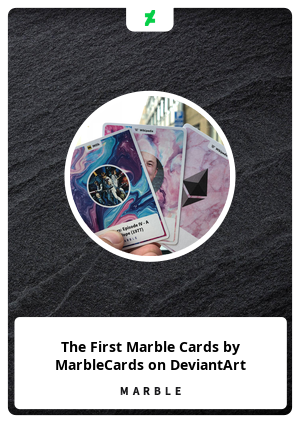 The First Marble Cards by MarbleCards on DeviantArt