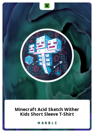 Minecraft Acid Sketch Wither Kids Short Sleeve T-Shirt