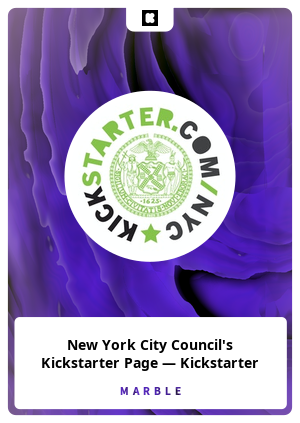 New York City Council's Kickstarter Page — Kickstarter