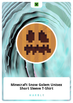 Minecraft Snow Golem Unisex Short Sleeve T-Shirt