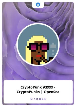 CryptoPunk #3999 - CryptoPunks   OpenSea