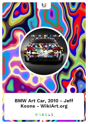 BMW Art Car, 2010 - Jeff Koons - WikiArt.org