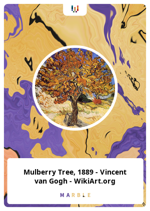 Mulberry Tree, 1889 - Vincent van Gogh - WikiArt.org