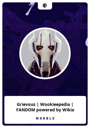 Grievous | Wookieepedia | FANDOM powered by Wikia