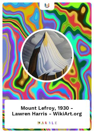 Mount Lefroy, 1930 - Lawren Harris - WikiArt.org