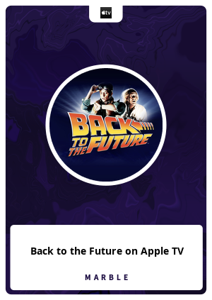 Back to the Future on Apple TV