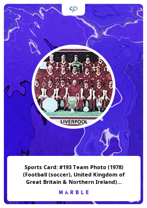 Sports Card: #193 Team Photo (1978) (Football (soccer), United Kingdom of Great Britain & Northern Ireland) Col:FS-PAS1978-193