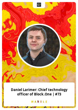 Daniel Larimer: Chief technology officer of Block.One | #73