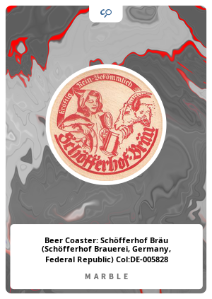 Beer Coaster: Schöfferhof Bräu (Schöfferhof Brauerei, Germany, Federal Republic) Col:DE-005828